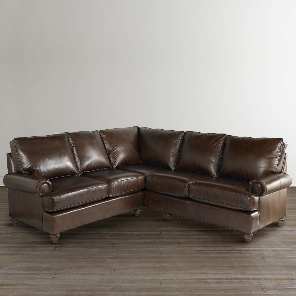Small Scale Leather Sectional Sofa | http://ml2r.com | Pinterest