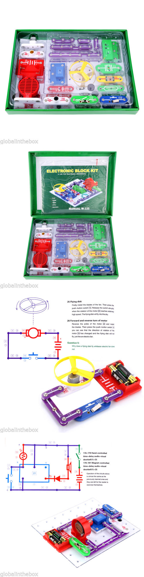 Electronics And Electricity 158698 Snap Circuits Children Toy Jr 100 Kit Discovery Science Educational Gift