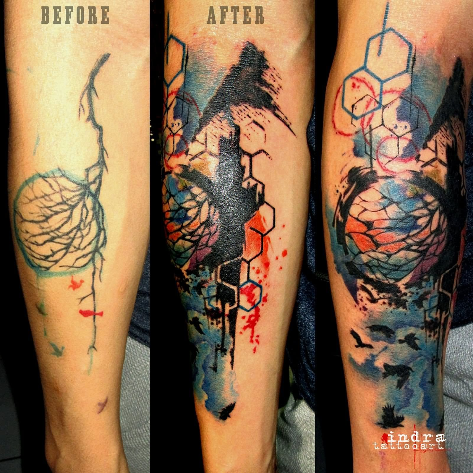 Abstract geometric tattoos the