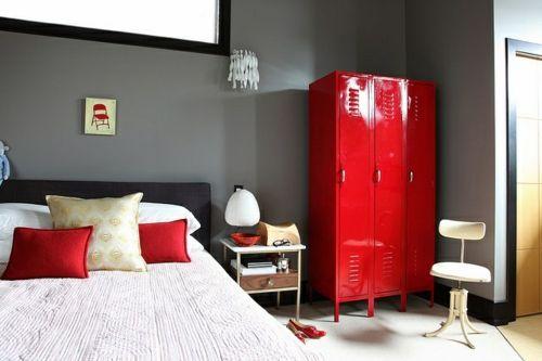 Farbgestaltung Fürs Jugendzimmer U2013 100 Deko  Und Einrichtungsideen    Glanzvoll Urban Wand Jugendzimmer Stil Kleiderschrank Grau