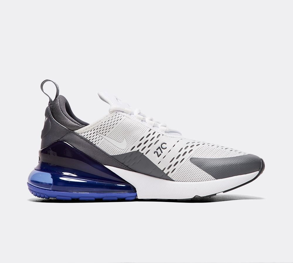 detailed look 8567b 3c5ab Nike Air Max 270 Trainer   White   Persian Violet   Footasylum