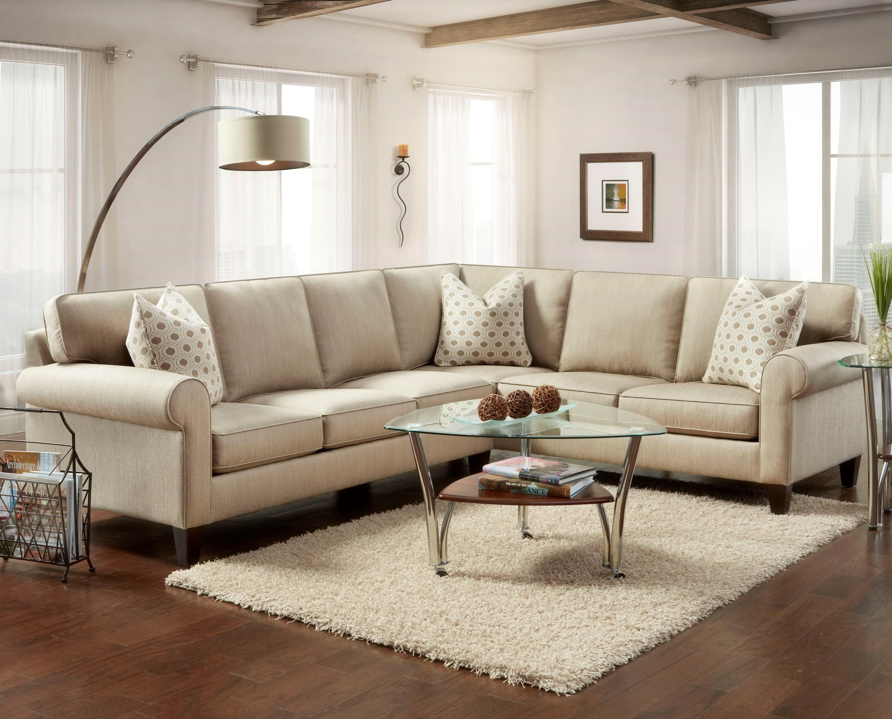 714 2 Piece Sectional with Rolled Arms by Bauhaus