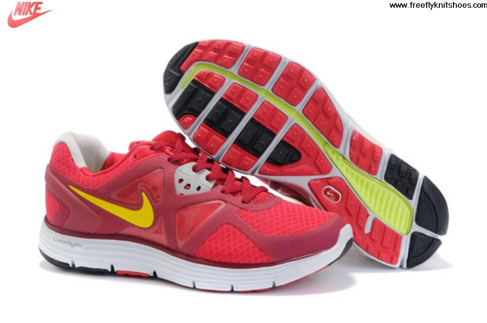 meet a2a11 9b081 Latest Listing Discount Womens Nike Lunarglide 3 Red Yellow Shoes The Most  Flexible Shoes