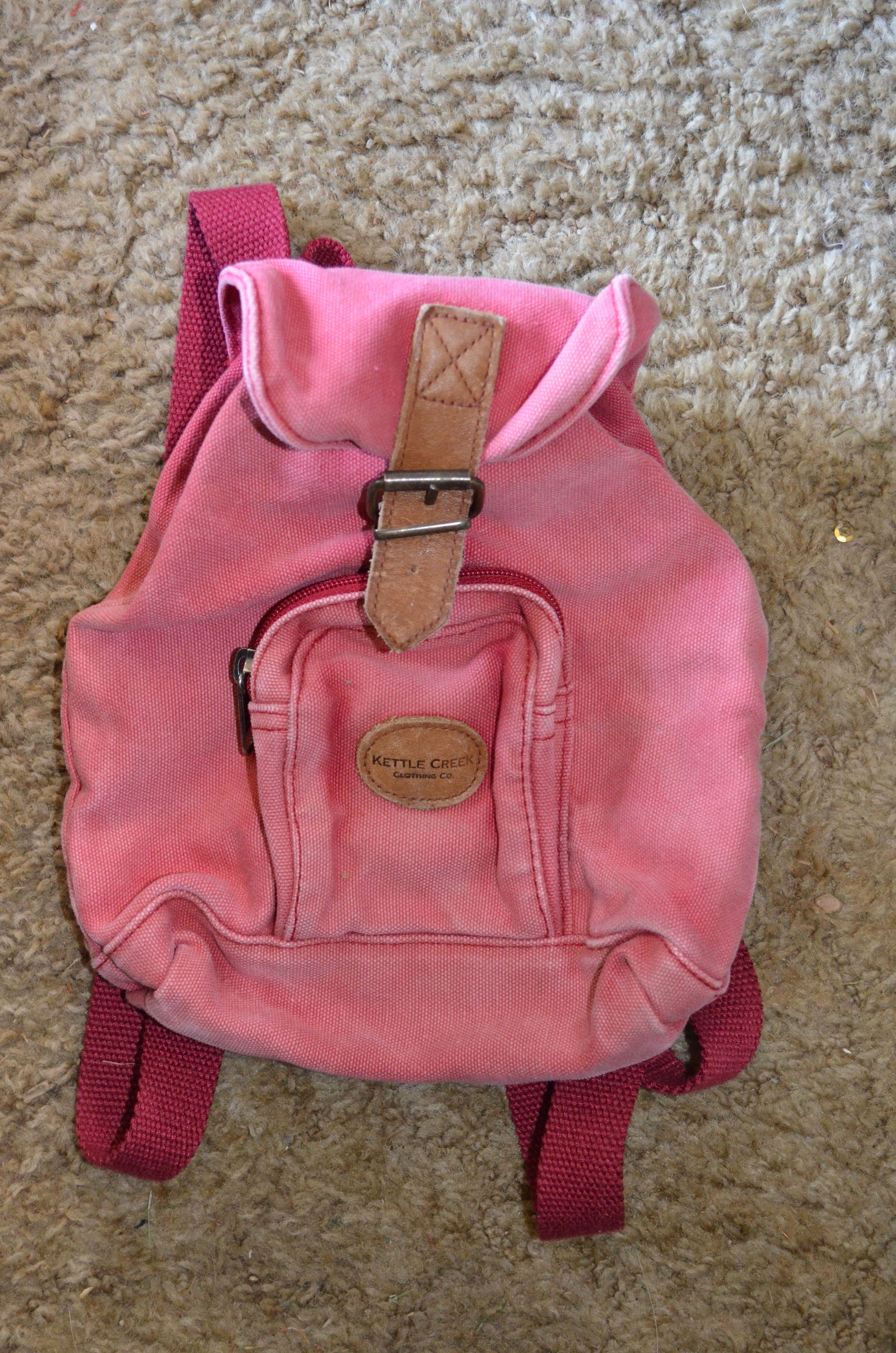 e762ec3aa Vintage Kettle Creek, mini backpack bag. $12 - Kettle Creek Canvas Co. -