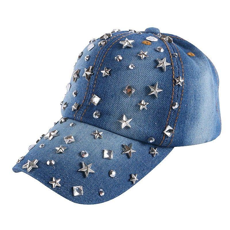 Baby Kids Boy Girls Baseball Cap Rhinestone Star Print Outdoor Snapback Hat Cap