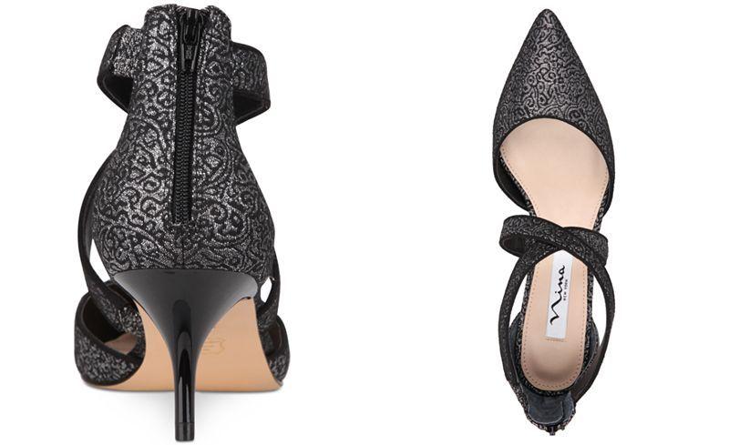 Nina Tristen Pump(Women's) -True Black Glam Suede/Patent Marketable Online BTJIee2h