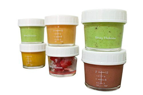 Glass Containers For Baby Food Snacks Yogurt Dried herbs Nuts Spices