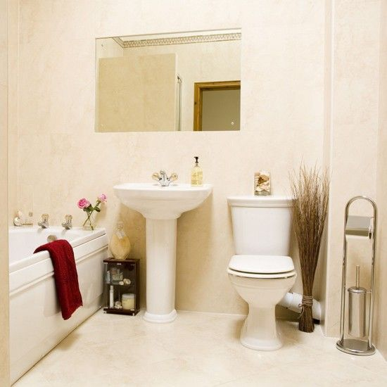 Thereu0027s No Better Colour Scheme For A Small Bathroom Than Shades Of White  And Cream