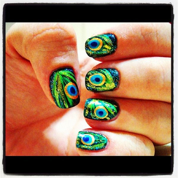peacock nails  @Allie Hunt, @Mallory Hauser