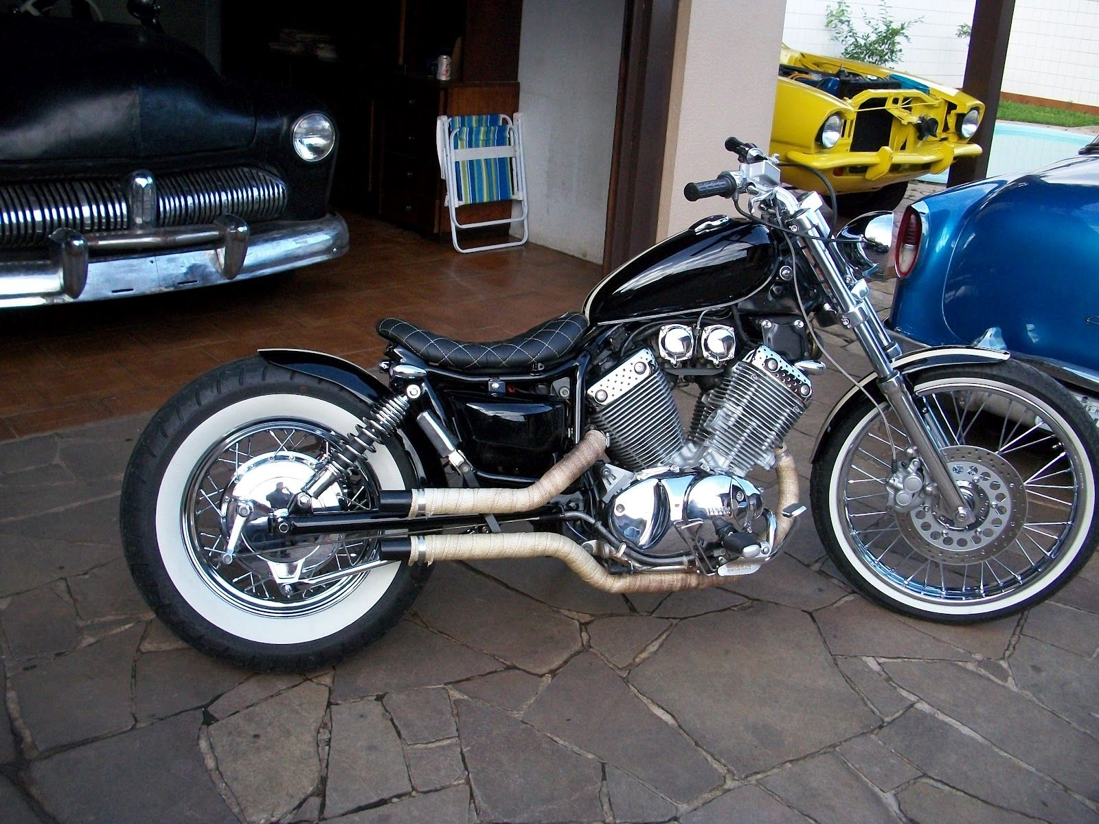 super sweet virago 535 chopper bike pinterest. Black Bedroom Furniture Sets. Home Design Ideas