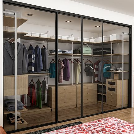 Cosmos delaware modular wardrobe opulent designcosmos for Walk in closet india