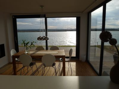 Photo of Lake house with private beach 1 Löbnitz – Cooking with a lake view