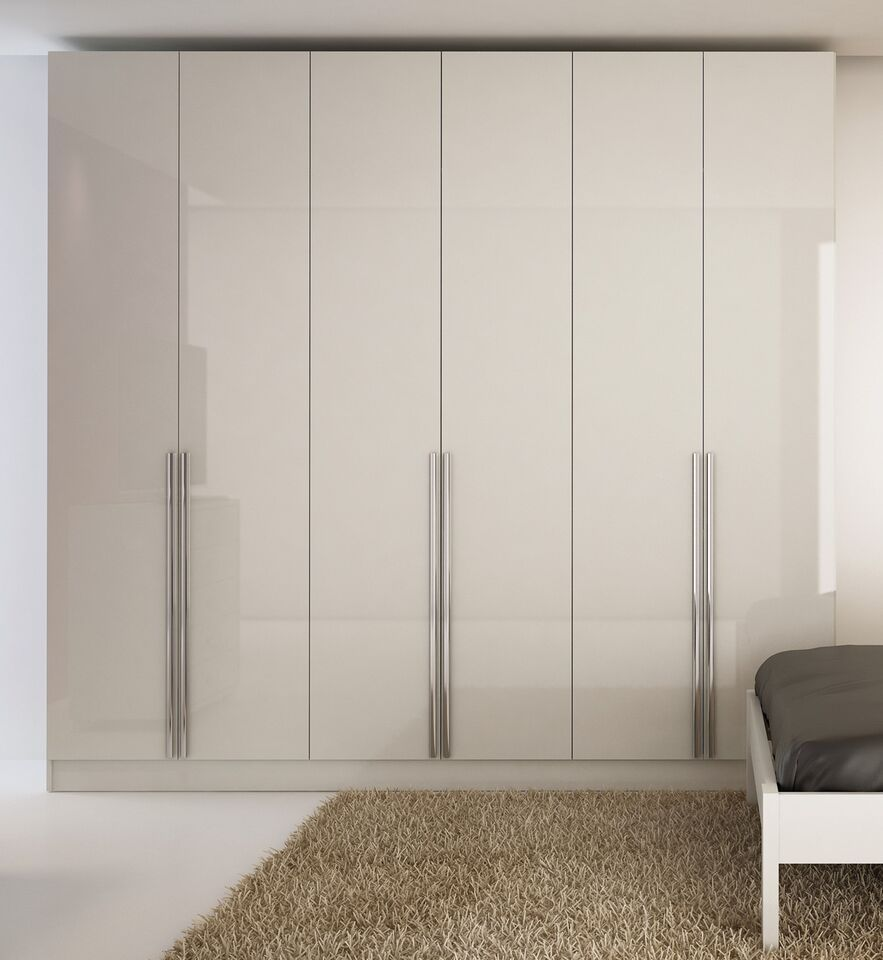 Manhattan Comfort 4 Drawer Eldridge 6 Door Wardrobe In White Gloss High Gloss 34184mc Modern Armoire Manhattan Comfort Bedroom Armoire