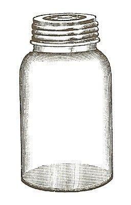 Empty Jar Unmounted Rubber Stamp Etsy In 2021 Mason Jar Clip Art Clip Art Vintage Jar