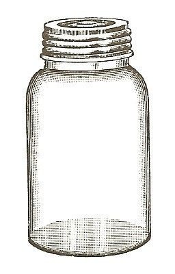 Empty Jar Unmounted Rubber Stamp By Vintagebliss On Etsy 4 50