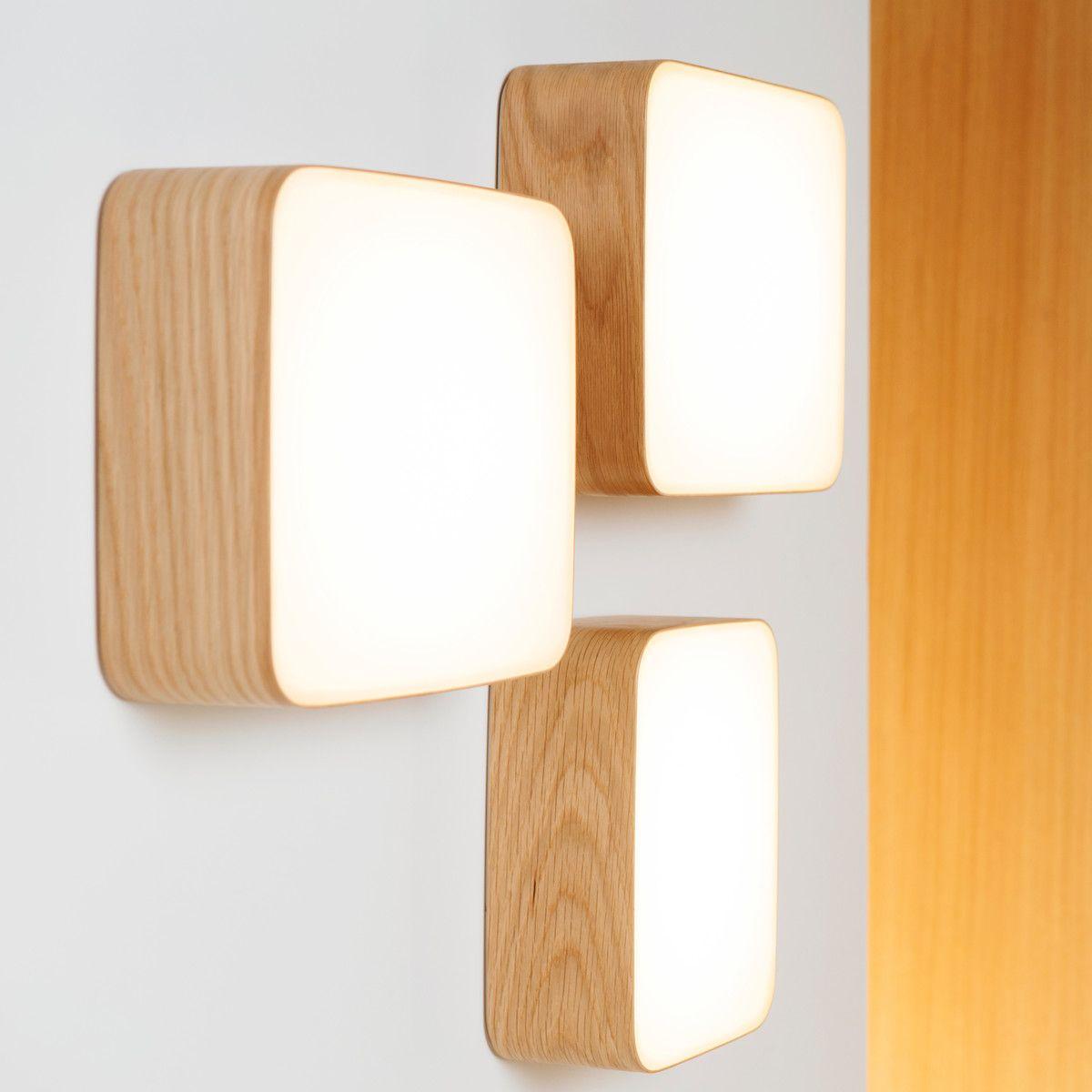 Tunto Cube M Wandleuchte Eichenholz Wandleuchte Wandlampe Lampendesign