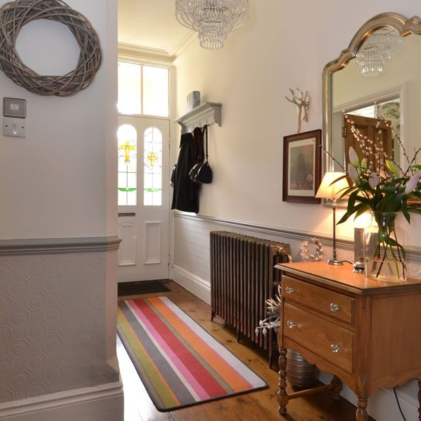Hallway Ideas Designs And Inspiration: Entrance Hall. The Colourful Rug Adds Warmth And Makes The