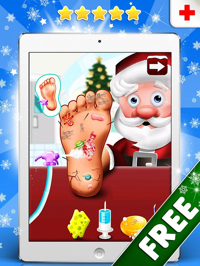 Poor Santa needs your tender loving care. Use all your