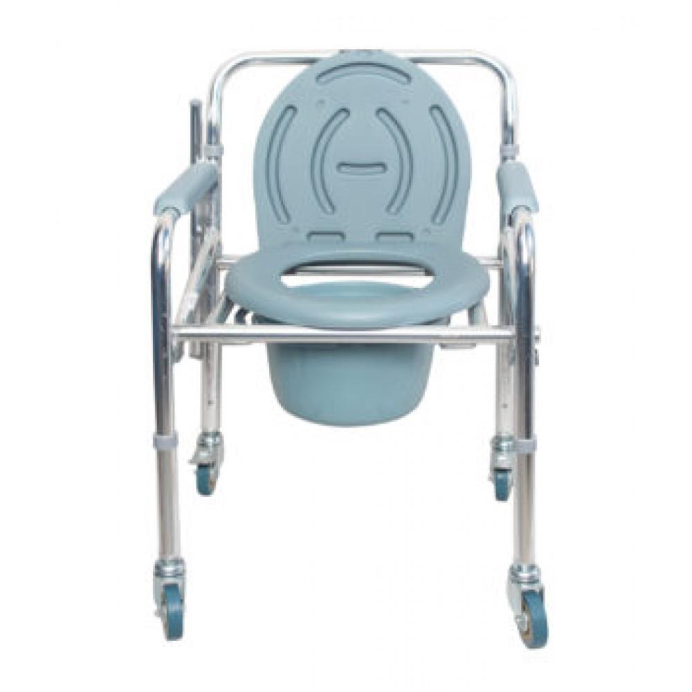 Karma Rainbow 11 Foldable Aluminium Commode Chair With Wheels