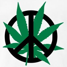 Weed peace sign