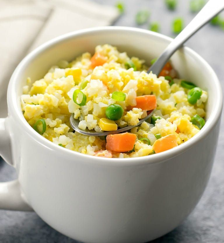 How to Make Cauliflower Fried Rice in the Microwave