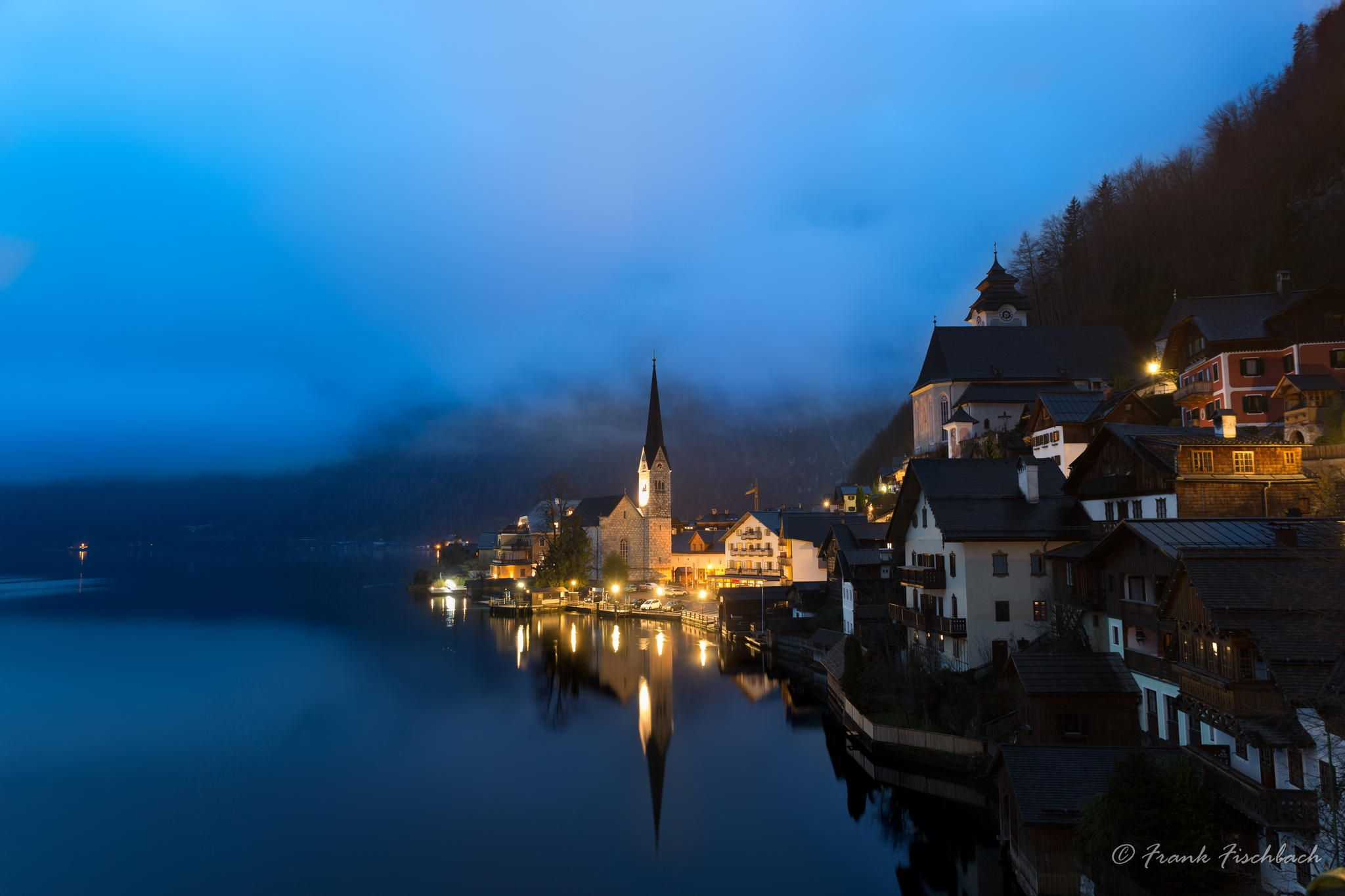 Dawn At Lake Hallstatt, Salzkammergut, Austrian Alps By Frank Fischbach