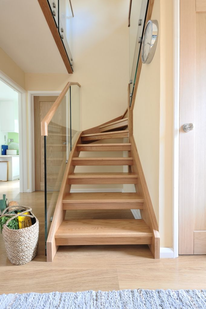 Best A Stunning Mixed Modern Glass And Natural Oak Staircase A 400 x 300