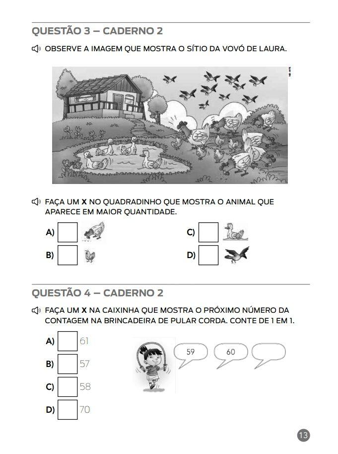Simulado Matematica Ana Escola