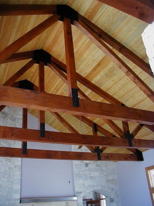 Room In Attic Truss Design: Exposed Beams Ceiling Photos