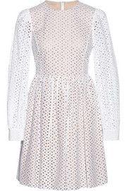 Michael KorsBroderie anglaise cotton mini dress