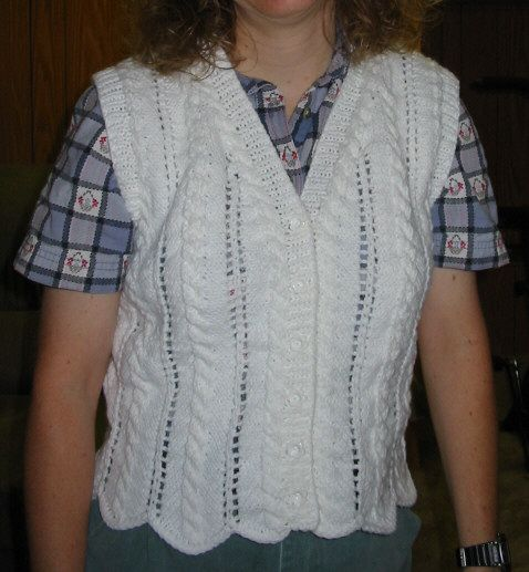 Cable and Eyelet Vest -- from Vested Interest