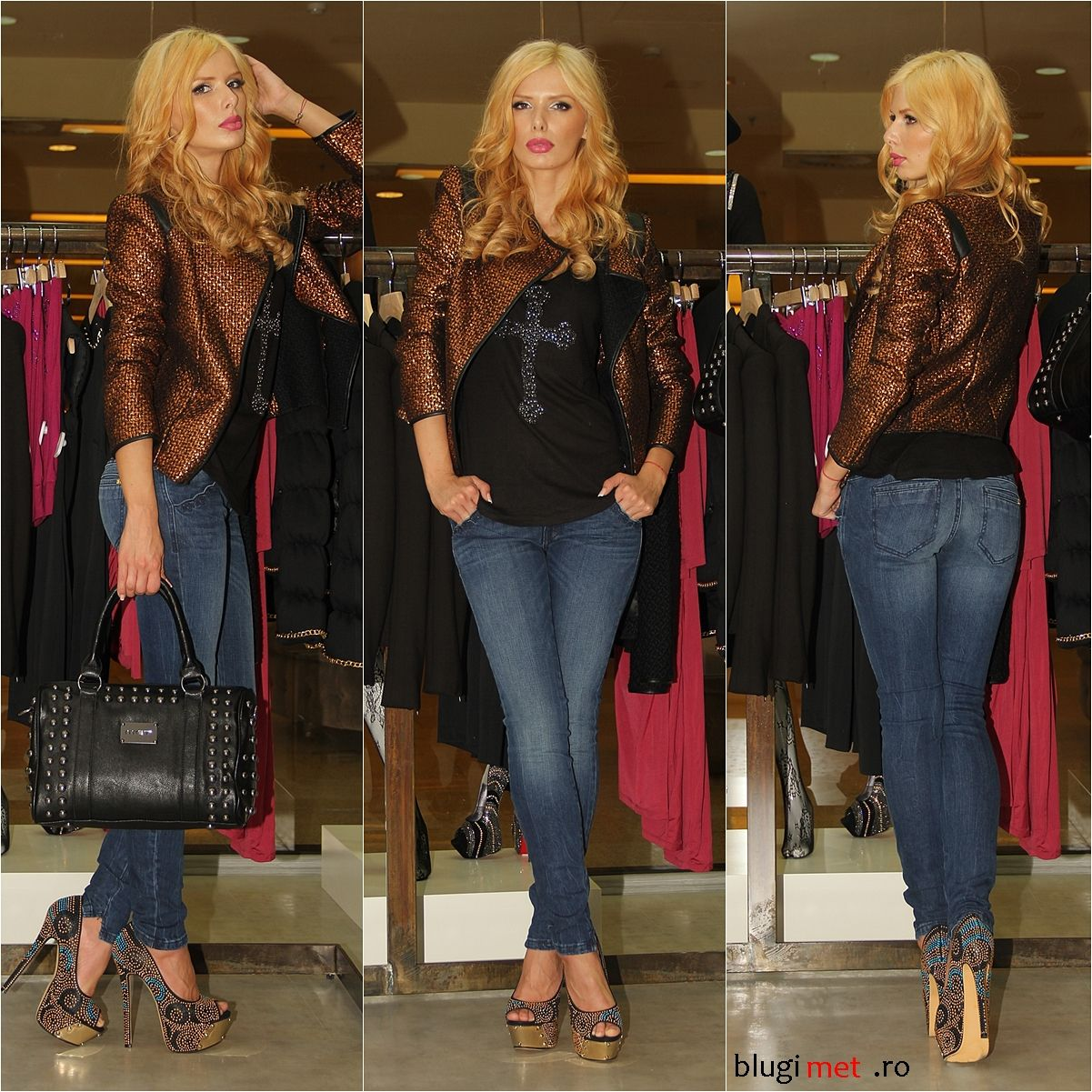 MET *Look of the day*  - sacou SALOME - bluza RIMMASF - blugi CHINO POCKET - geanta STUDFULL - pantofi DIAVOLI & DIAMANTI
