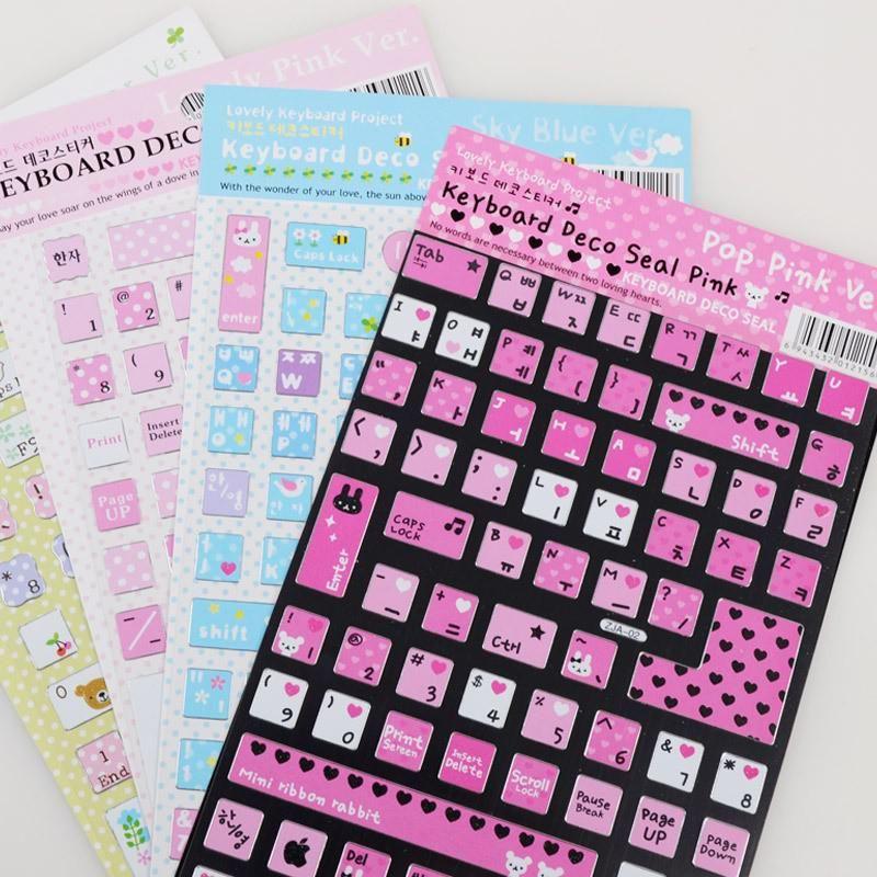 Creative Korean Laptop Keyboard Button Stickers DIY ...