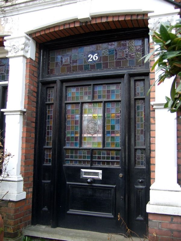 Stained glass door in Constantine Road Camden London & Stained glass door in Constantine Road Camden London | Doors ...