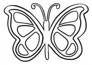 How To Draw A Simple Butterfly By Dawn With Images Butterfly