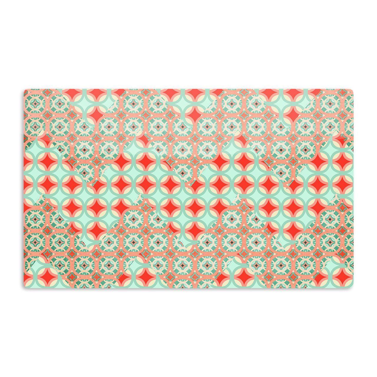 "Catherine McDonald ""Traveling Caravan"" Red Pattern Aluminum Magnet"