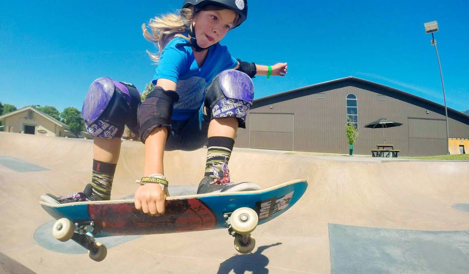 10 year-old Zoe Safanda having a blast in The Junction at Woodward West. Photo by Elisa Safanda.