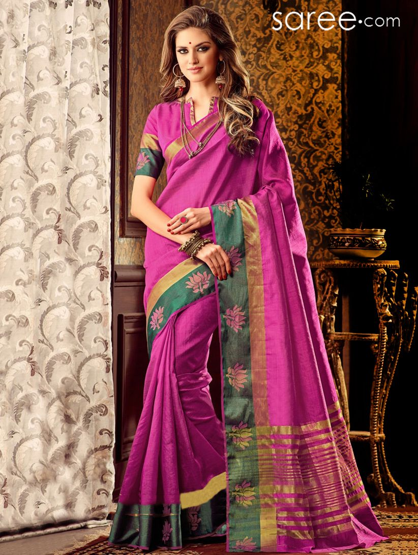 PINK TUSSAR SILK SAREE WITH WEAVING WORK