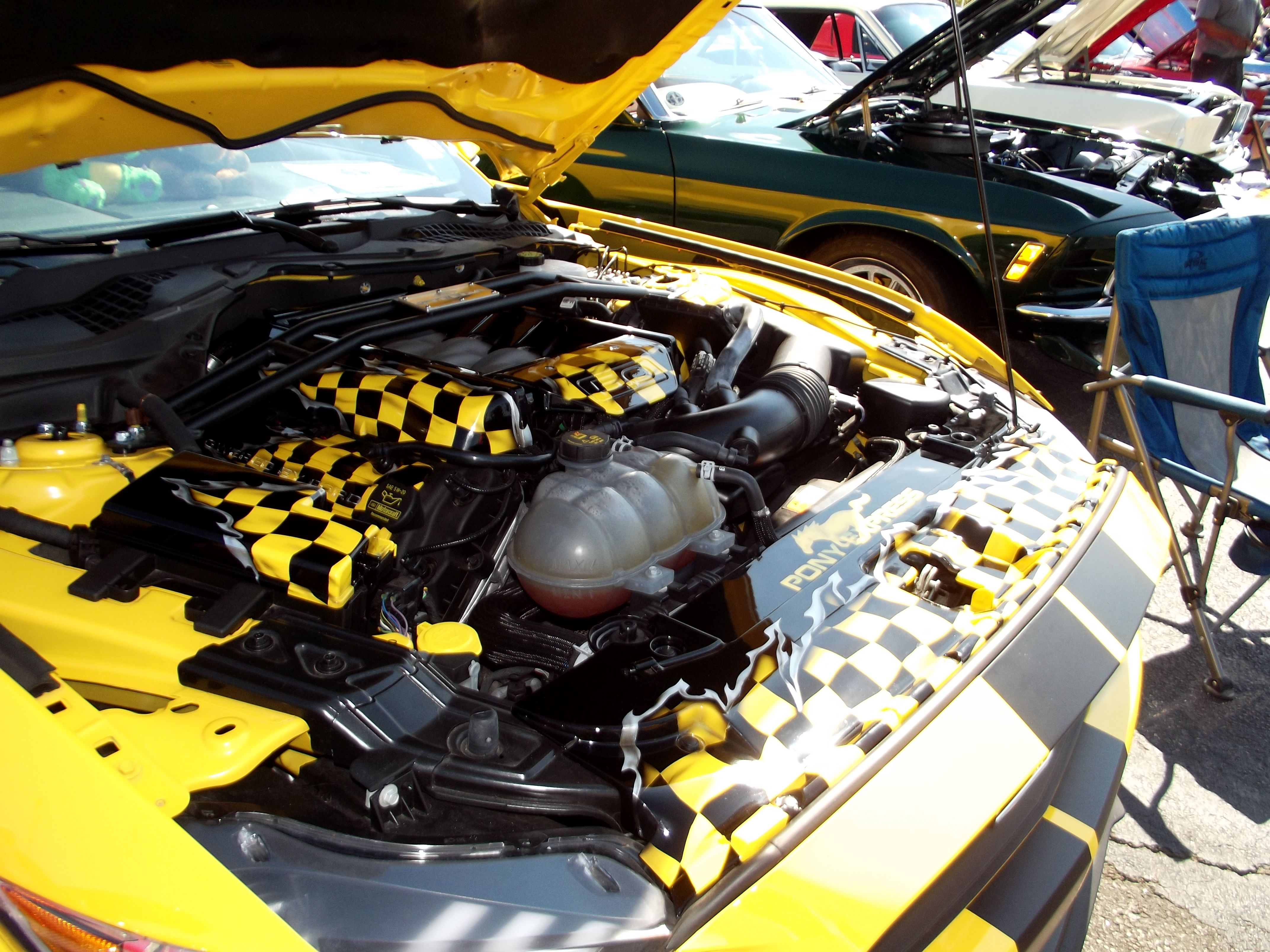 Check Out This Beauty Black Yellow Ripped Checkered Flag Design C7 Corvette Painted Fuse Box Cover We Can Make