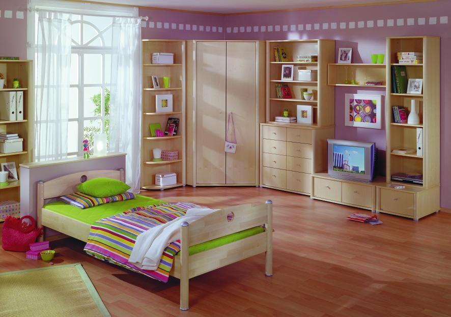 Bett 90 200 cm in birkefarben kinder und jugendzimmer for Jugendliche schlafzimmer