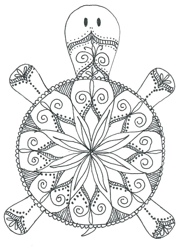 Animal Mandala Coloring Pages With Images Turtle Coloring
