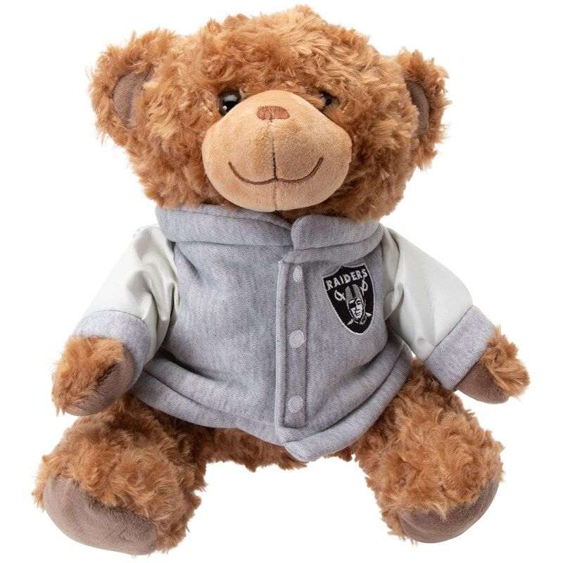 """From topical to classic, we've got you covered! Las Vegas Raiders 10"""" Varsity Bear in 2021   Oakland raiders, Halloween toys, Raiders"""