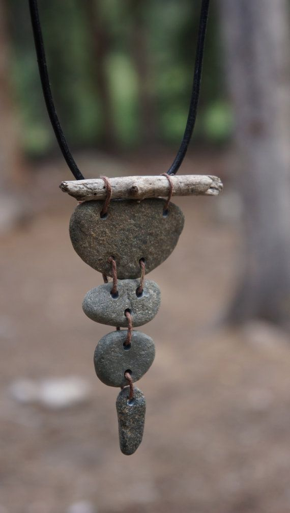 Photo of Items similar to River Rock Pendant/meditation/yoga jewelry on Etsy