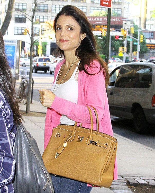 4da323129974 Love the pink sweater with tan bag | My Closet | Hermès bags, Bags ...