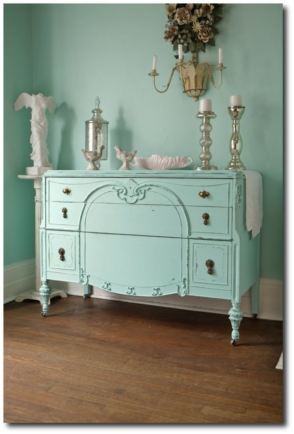 Brightly Painted Antique Furniture Painting With Brighter Paint