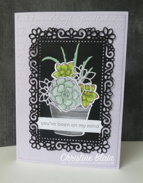 STAMPIN' UP! SIMPLY SUCCULENTS PURPLE POSY
