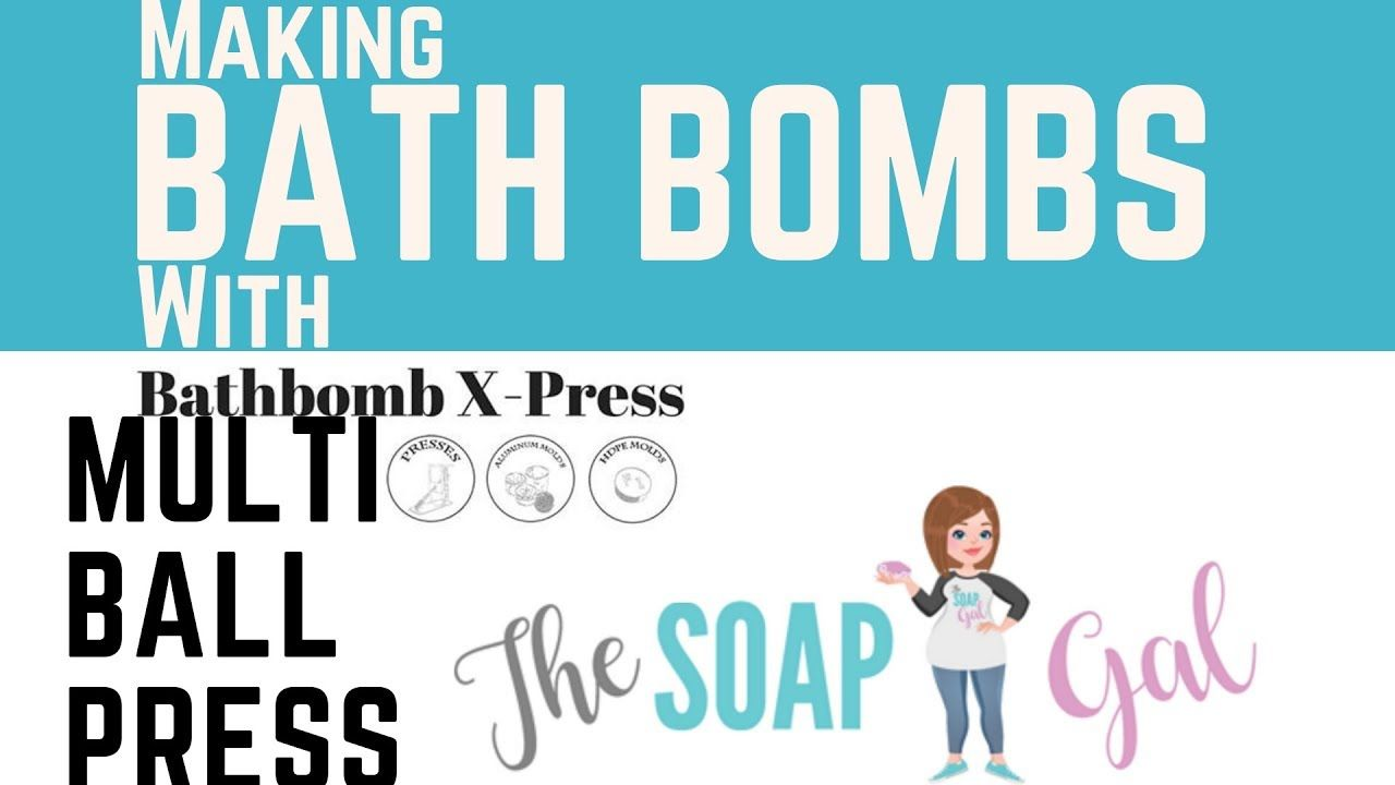 Making Bath Bombs With The 16 Bomb Multi Press Youtube Making