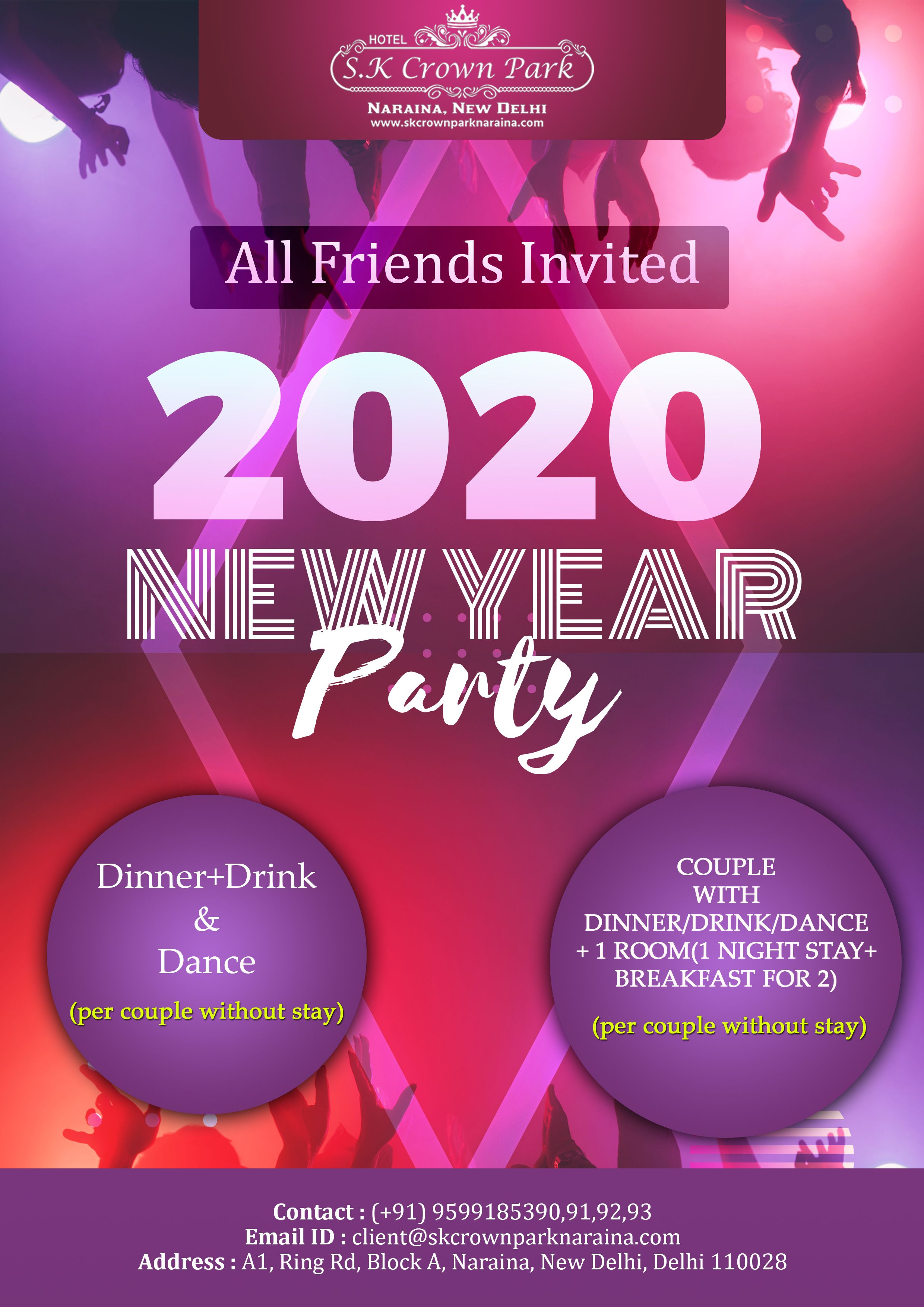 New Year Party 2020 Couples Dinner Hotel Reception How To Memorize Things