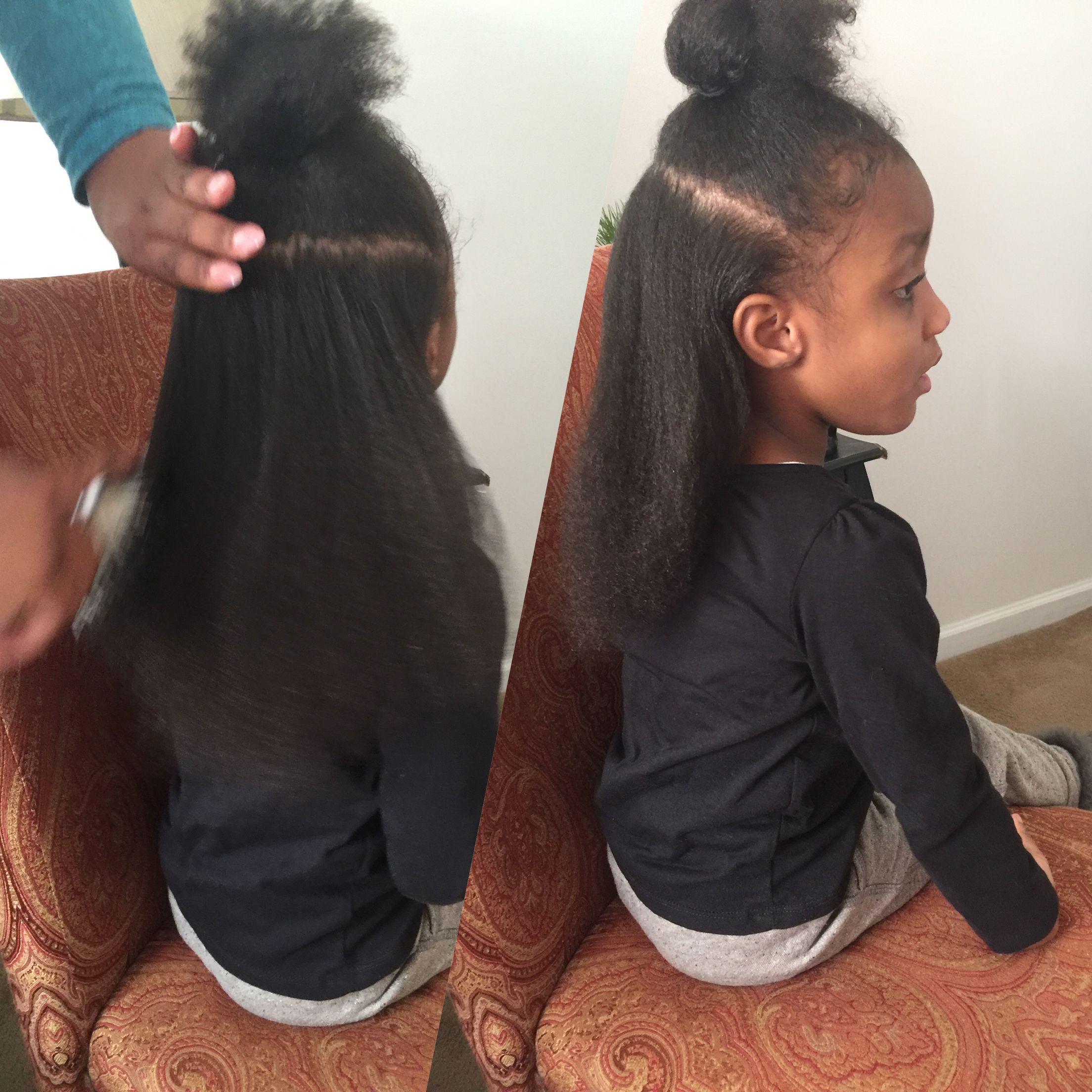 My 4 Year Old Hair Blow Dried With Low Heat Blowout Longhair Toddlerhair Toddler Kids Girl Twin Flat Iron Hair Styles Kids Hairstyles Blowout Hair