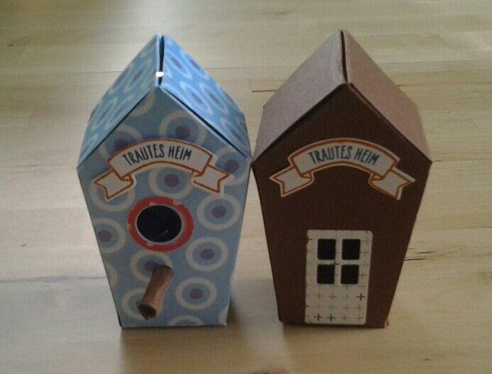 Hier haben meine Tochter (10 Jahre) und ich ein wenig probiert. Zwei  Häuschen sind entstanden. Stampinup : Thinlits - zu hause & Stempelset- ein haus für alle fälle. Dies ist alles im neuen Herbst/ Winter Katalog von Stampinup  der ab September 2016 zu haben ist drin. creativ by maro